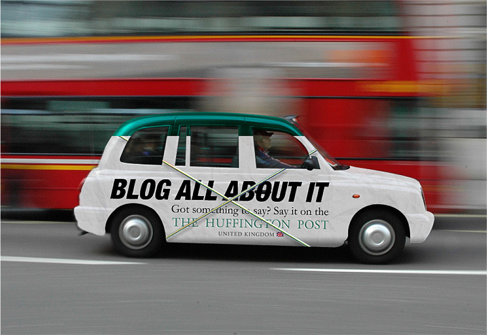 Huffington Post — Taxi skin