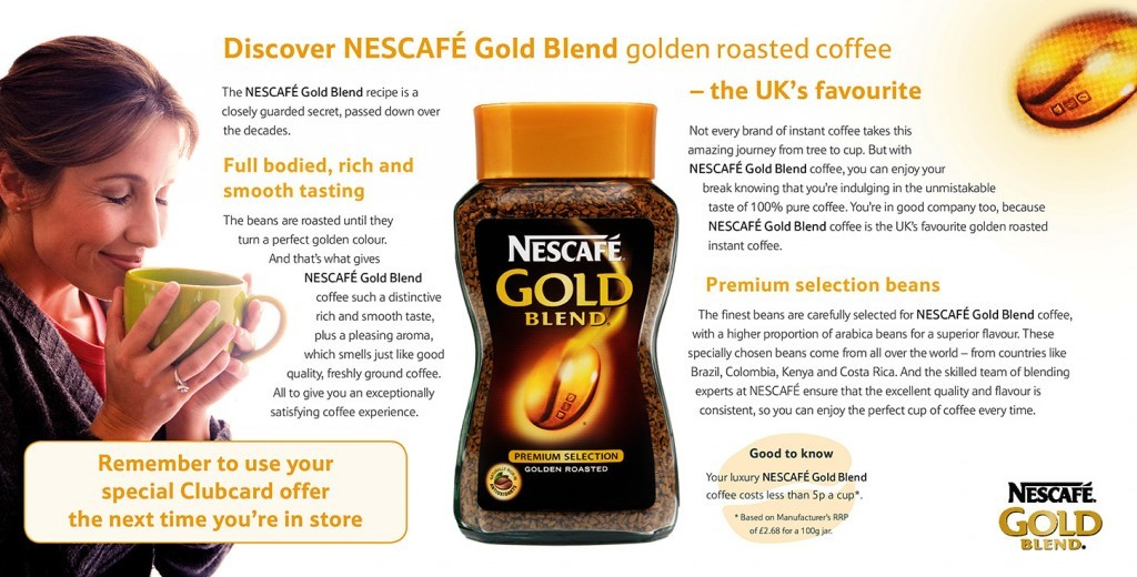 Nescafé Gold Blend — Layout