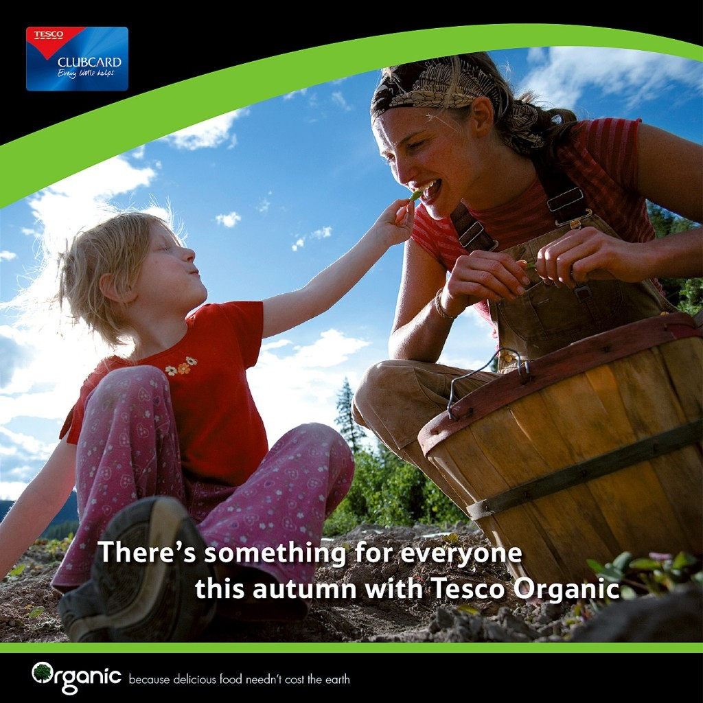 Tesco Organic — brochure cover